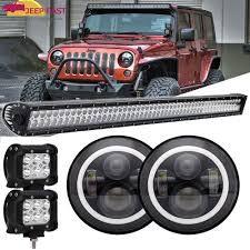 52 Inch Light Bar For Jeep Details About For Jeep Wrangler Tj 97 06 52inch 700w Led Light Bar 7 Inch 60w Headlights