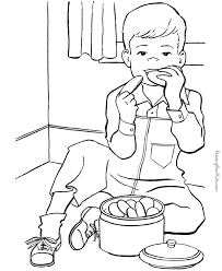 Small Picture Cookies coloring page to print and color Coloring Pages For Kids