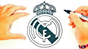 How to draw a Real Madrid Logo | Real Madrid Shield Draw Tutorial ...