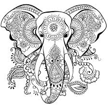 awesome elephant mandala coloring pages 3 r wild at heart coloring book