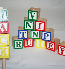 With Drilled Hole Wooden Alphabet Blocks, Lettered Blocks, Baby Alphabet  Blocks, Alphabet Blocks