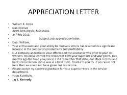 13 Appreciation Letter To Staff Notice Paper