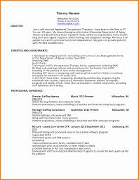 Occupational Therapy Resume Examples Respiratory Therapist Resume Sample Elegant Occupational Therapist 7