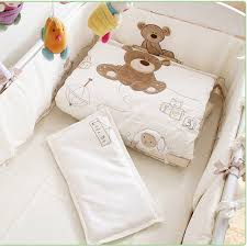 7pcs set baby crib