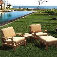 teak patio furniture requires little