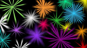 Growing And Shrinking Multicolored Ray Growing And Shrinking On Black Background Video Background For Disco Party Celebration Birthday Festival