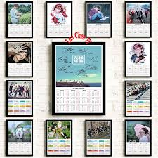 Us 2 21 15 Off Hot Sale 2019 Calendar Korean Band Bts Series 1 Coated Paper Poster Gift Room Dining Home Decor Wall Sticker Design 42x30cm In Wall