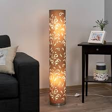 flora floor lamp cappuccino lampshade with décor 4581233 01