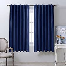 Blackout Draperies Curtains Window Drapes - (Navy Blue Color) 52\  Amazon.com