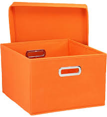 Decorative Storage Box Sets Collapsible Storage Box Orange Set of 100 in Decorative Storage 43