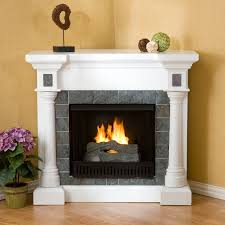 white corner fireplace ideas exquisite design simple tile electric new gas stove faux stone tent wood