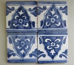 Blue And White Decorative Tiles Reeso Tiles 100PW100 Talavera Decorative Tile on Pure White 65