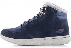 <b>Ботинки утепленные</b> мужские Skechers Go Walk City-Sierra <b>синий</b> ...