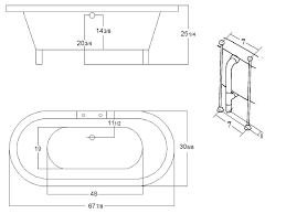 pompano freestanding bathtub tradewindsimports bathtub dimensions