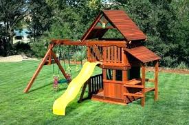 outdoor playhouse swing set swing set clearance awesome pictures sets on wooden swing set clearance