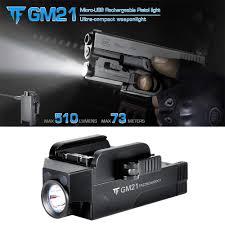 Rechargeable Pistol Light Amazon Com Wishdeal Gm21 510 Lumens Led Handgun Flashlight