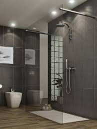 modern shower head recessed bathroom lighting. Inspiring Bathroom Decoration Using Modern Tile Shower Wall : Exciting Mounted Head Recessed Lighting O