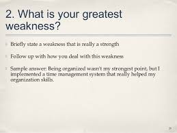 Job Interview Weaknesses 93 Interviews Lecture Slides 26 638 Cb