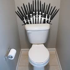 Bathroom Puns Custom The Porcelain Throne Funny