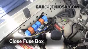 replace a fuse 2000 2004 nissan xterra 2002 nissan xterra se 6 replace cover secure the cover and test component
