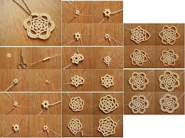 how to make beads or pearls flower pendant step by step diy tutorial instructions thumb