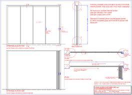 sliding glass door plan. Technical Detail - DG-Frameless Glass Doors Sliding Door Plan