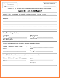 Incident Reporting Template Security Incident Report Form Template Progress Report Security 98