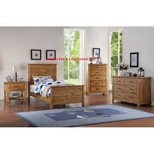 Madison 2 Piece Full Size Natural Wood Rustic Kids Bedroom Set ...
