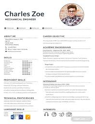 2020 Latest Cv Format Free Mechanical Engineer Fresher Resume Template Word
