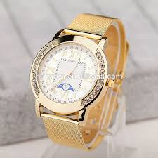 mesh watch bracelet men gold color white and black face quartz mesh watch bracelet men gold color white and black face quartz analog wrist watch for women