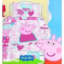 funny curious pink pig duvet cover bedding set george