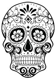 Printable Skull Coloring Pages For Spikedsweetteacom