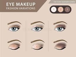 eye makeup tutorial eyeshadow vector template stock vector ilration of face palette