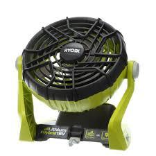 fan that runs on batteries. ryobi 18-volt one+ hybrid portable fan (tool only) that runs on batteries p
