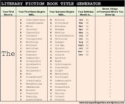 best books images perspective menu and the literary fiction book title generator
