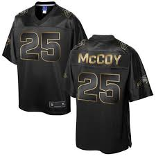 clothing nfl nike bills 25 lesean mccoy pro line black gold collection mens stitched game