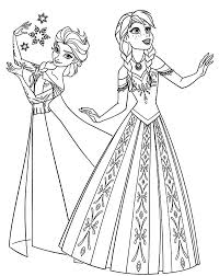 Small Picture Beautiful Disney Princess Anna ColoringDisneyPrintable Coloring