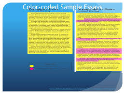 argumentative writing ppt video online  color coded sample essays