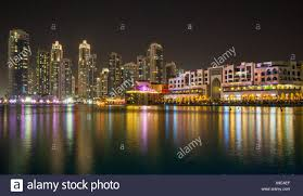 Skyline Festival Of Lights Discount Downtown Dubai Festival Of Light Dubai Uae Stock Photo