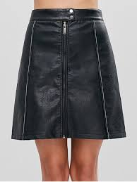 a line faux leather skirt black xs