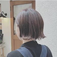 浦川 由起江さんのヘアスタイル 切りっぱなしボブ 外ハネ Tredina