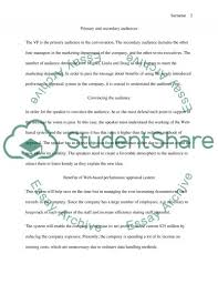 audience analysis example all weather case audience analysis memo essay example topics and