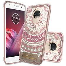 motorola z2 play case. moto z2 play clear case with hd screen protector,anoke [scratch resistant] colors motorola