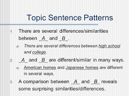 topic sentence examples for compare and contrast essay compare contrast essays norm johnson spring ppt download