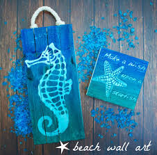 diy beach themed wall decor diy beach art seahorse and starfish for summer dari on beach on outdoor beachy wall art with diy beach themed wall decor gpfarmasi 436a6f0a02e6