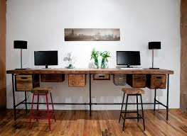 industrial style office furniture. double industrial desk style office furniture