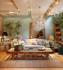 zen living room furniture. loving the earthy hue of walls and how furniture pieces added plant life zen living room