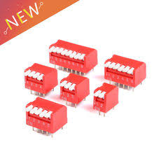 10pcs slide type switch module 1 bit 2 54mm position way dip red pitch