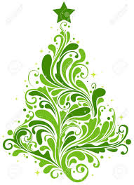 Christmas Swirls Christmas Tree Design Featuring Abstract Swirls Shaped Like A