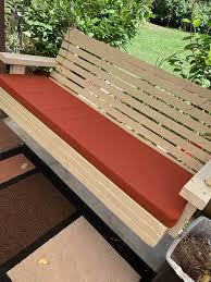 custom seat bench back cushions